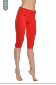 Roll Down Knee Legging (Ruby Red) by Hard Tail Forever
