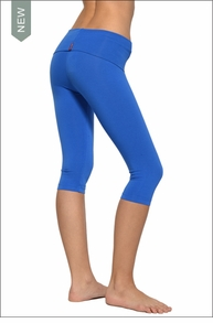 Roll Down Knee Legging (Sapphire) by Hardtail