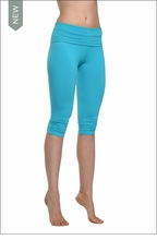 Roll Down Knee Legging (Surf) by Hard Tail Forever