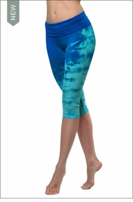 Roll Down Knee Legging (Tie-Dye DRH5) by Hard Tail Forever