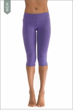 Roll Down Knee Legging (W-394, Purple) by Hard Tail Forever