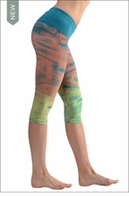 Roll Down Knee Legging (W-394, Tie-Dye DH43) by Hard Tail Forever