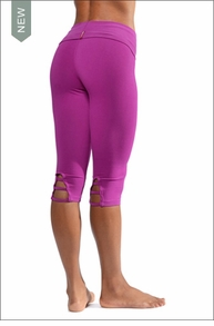 Roll Down Knee Legging (W-626, Very Berry) by Hard Tail Forever