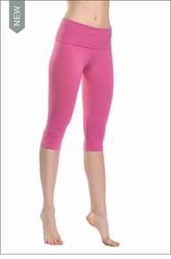 Roll Down Knee Legging (Wildberry) by Hard Tail Forever