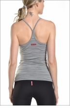 Rouched spaghetti Tank (Heather Grey) by Hardtail