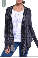 Saddle Cardigan (Charcoal Gator Tie-Dye) by Hardtail