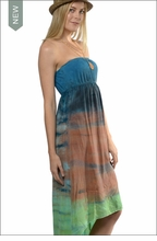 Sexy Back Halter Maxi (BEM-17, Tie-Dye DH43) by Hard Tail Forever