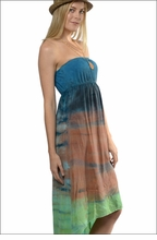 Sexy Back Halter Maxi (BEM-17, Tie-Dye RH43) by Hard Tail Forever