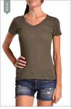Sexy V-Neck Tee (Olive) by Hardtail
