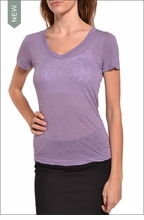 Sexy V-Neck Tee (Thistle) by Hardtail