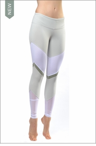 Sheila Legging (Vapor Grey / White Glossy / Sea Mist) by Alo Yoga