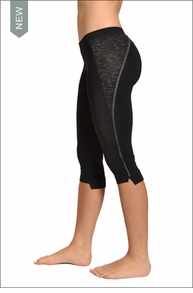Side Split Capri (Black) by Hardtail
