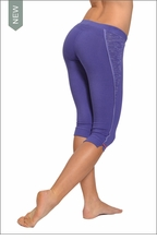 Side Split Capri (Butterfly Blue) by Hardtail