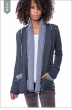 Slouchy Cardigan (Black) by Hardtail