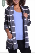 Slouchy Cardigan (Electric Lines) by Hardtail