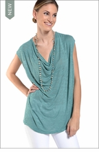 Slouchy Draped Front Tee (Bottle) by Hardtail