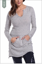 Slouchy Sweatshirt Tunic (Heather Gray) by Hardtail
