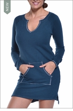 Slouchy Sweatshirt Tunic (Moon) by Hardtail