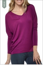 Slouchy V-Neck Tee (Orchid) by Hard Tail Forever