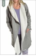 Slouchy Wrap Jacket (Heather Gray) by Hardtail