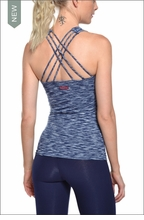 Space Dyed Spaghetti Tank (Navy) by Hardtail
