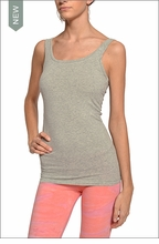 Supima/Lycra Sexy Tank (Heather Gray) by Hardtail