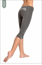 Supplex Side Ruched Capri (Charcoal & Heather) by Hardtail