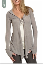 Swing Cardigan w/Thumb Holes (Driftwood) by Hardtail