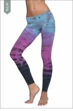Low Rise Ankle Legging (Hawaiian Sunset Tie-Dye) by Hard Tail Forever