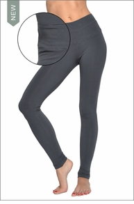 High Rise Ankle Legging (Onyx) by Hardtail