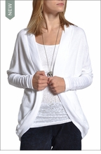 Ribbed Cocoon Cardigan (White) by Hardtail