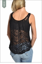 Reversible Lace Tank (Black) by Hardtail