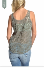 Reversible Lace Tank (River Rock) by Hardtail