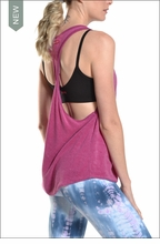Terry Gym Tank (Wildberry) by Hardtail