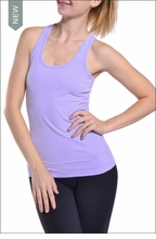 Textured Racer Back Tank (Mist) by Hardtail