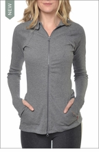 Three Button Collar Jacket (Charcoal) by Hardtail