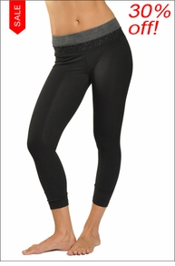 Tri-Tonal Cropped Capri (Black) by Hardtail