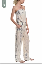 Tube top 1 piece Jumpsuit (Neutral Lizard) by Hard Tail Forever