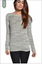 Velour Long Sleeve (Heather Gray Stripes) by Hardtail