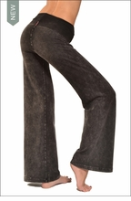 Wide Leg Roll Down Pants (Dark Charcoal Mineral Wash)