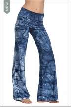 Wide Leg Roll Down Pants (Blue/White Neural Web) by Hard Tail Forever