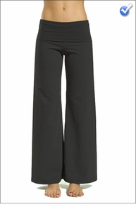 Wide Leg Roll Down Pants (Black)