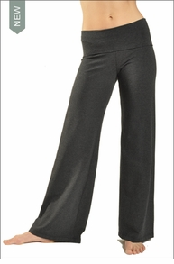 Wide Leg Roll Down Pants (Dark Charcoal)