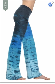 Wide Leg Roll Down Pants (Deep Sea Ombre) by Hard Tail Forever