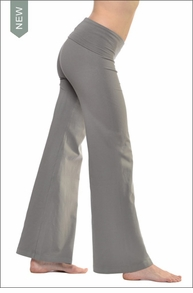 Wide Leg Roll Down Pants (Gravel)