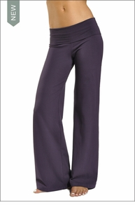 Wide Leg Roll Down Pants (Purple Rain) by Hardtail Forever