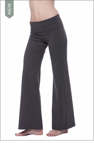 Wide Leg Roll Down Pants (W-326, Granite)