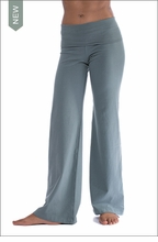 Wide Leg Roll Down Pants (W-326, Juniper)