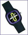 Alessi Kaj Watch Black & Purple by Karim Rashid
