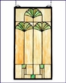Arts and Crafts Ginkgo Leaf Stained Glass Panel